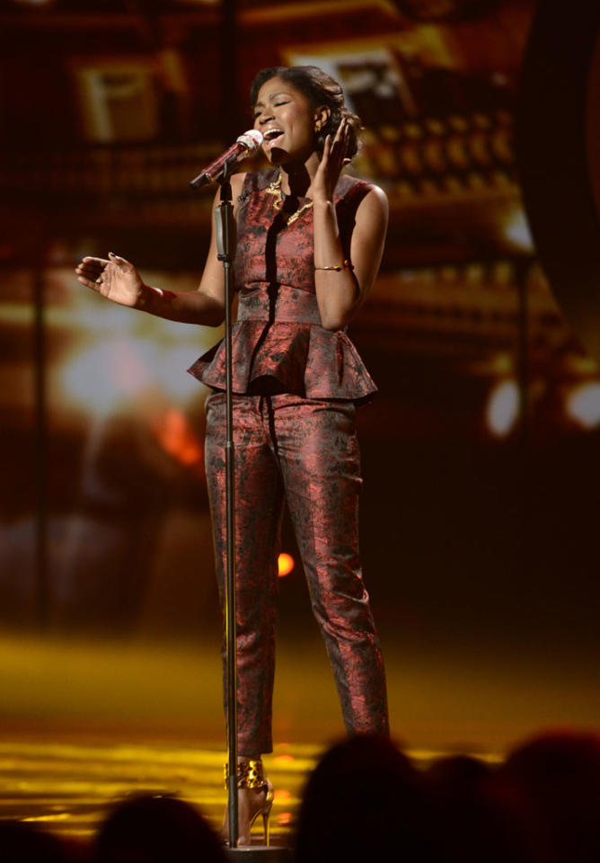 "Amber Holcomb performs ""My Funny Valentine"" on the Wednesday, May 1 episode of ""American Idol."""