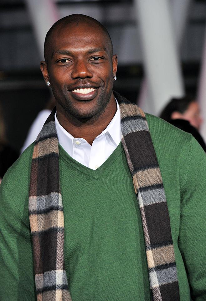 """Terrell Owens arrives at """"The Twilight Saga: Breaking Dawn - Part 2"""" Los Angeles premiere at the Nokia Theatre L.A. Live on November 12, 2012 in Los Angeles, California.  (Photo by Lester Cohen/WireImage)"""