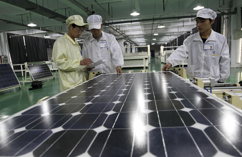 EU slaps levies on Chinese solar panel imports