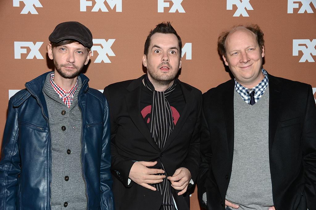 DJ Qualls, Jim Jefferies, and Dan Bakkedahl attend the 2013 FX Upfront Bowling Event at Luxe at Lucky Strike Lanes on March 28, 2013 in New York City.