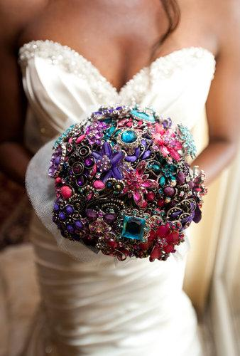 Add sparkle and glam with a made-to-order jeweled bouquet ($110).