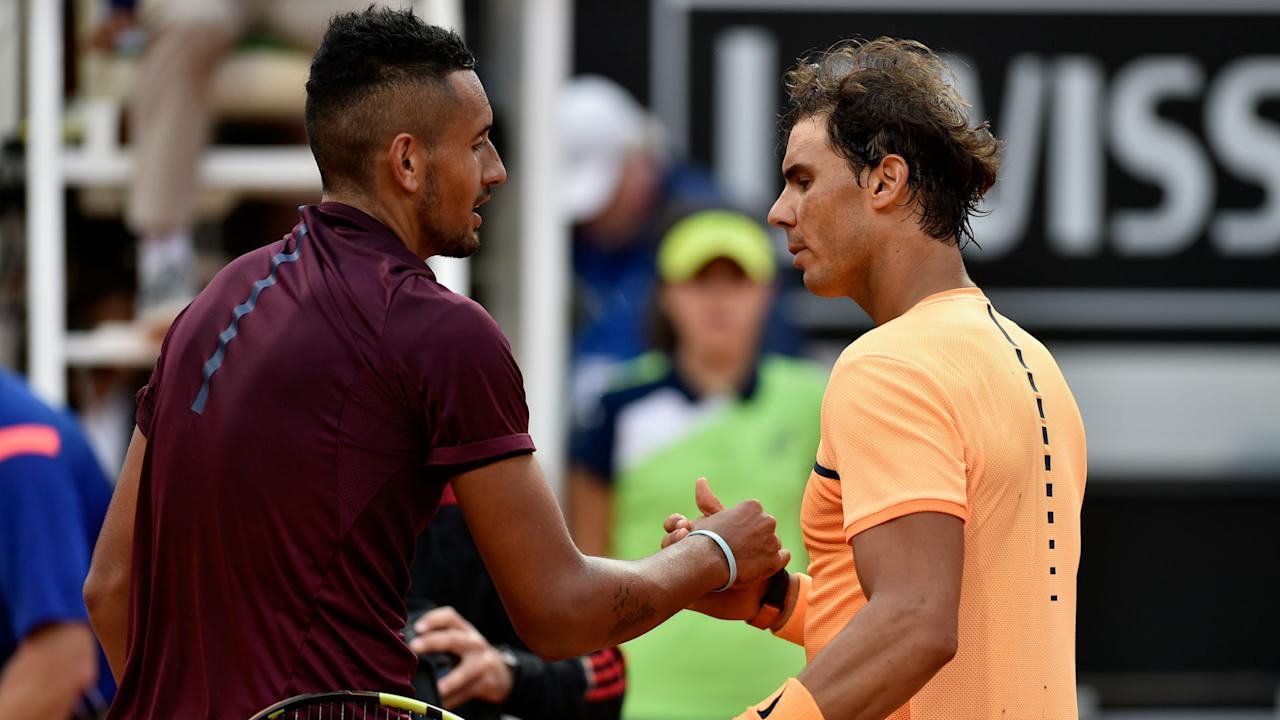 After Rafael Nadal tipped Nick Kyrgios to top the world rankings in the future, the Australian took a chance to hit out at his critics.