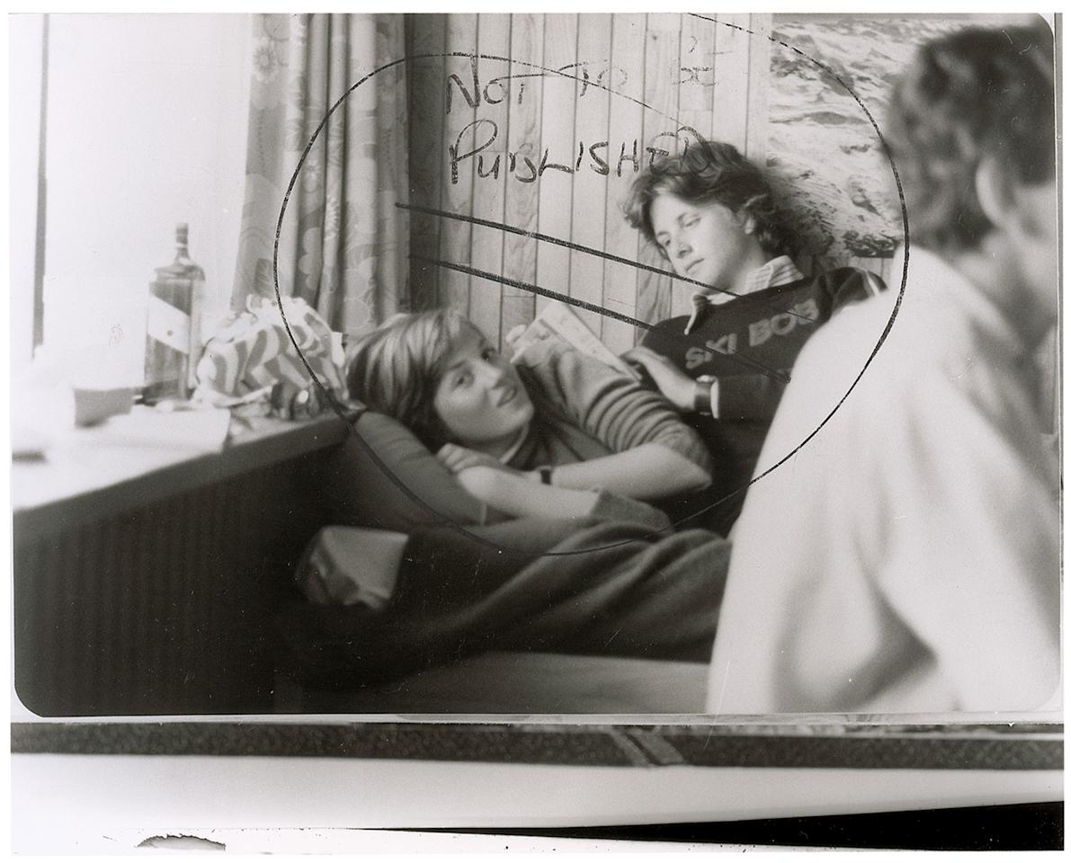"""This image provided by RR Auction shows a photograph marked """"not to be published"""" of a teenage Diana Spencer before she became Princess of Wales, with a young friend seated beside her. RR Auction in Amherst, N.H., says the photo sold Thursday, Jan. 24, 2013 to a real estate investor from San Diego for $18,306, well above early estimates. Stamped February 1981 on the back, the photo was taken around the time Charles, the Prince of Wales, and Lady Diana Spencer ended months of speculation and announced they were to be married. (AP Photo/RR Auction)"""