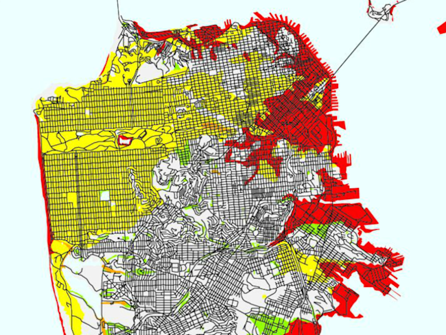 usgs map san francisco liquefaction susceptibility