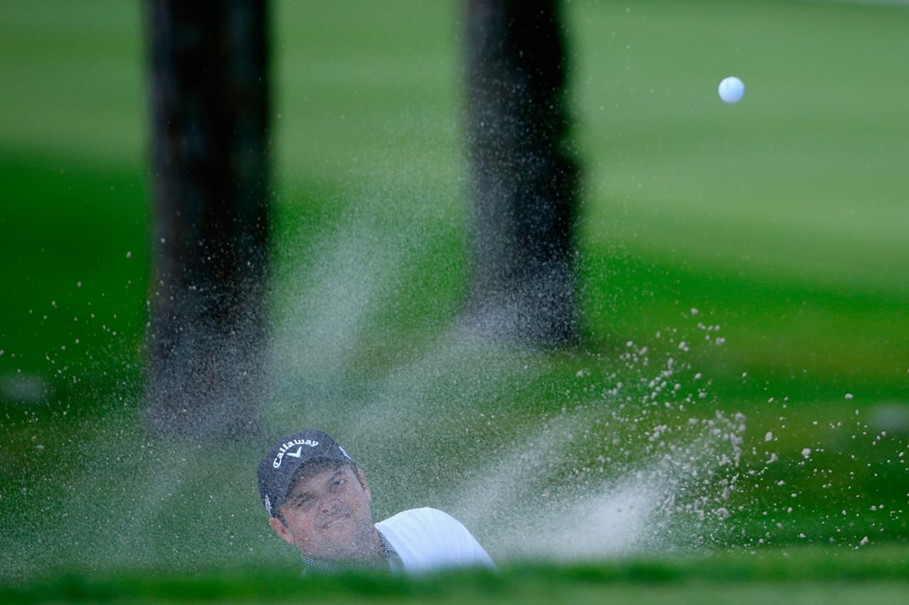 ORLANDO, FL - MARCH 21: Patrick Reed of the United States hits his third shot from a bunker on the fifth hole during the second round of the Arnold Palmer Invitational presented by MasterCard at the Bay Hill Club and Lodge on March 21, 2014 in Orlando, Florida. (Photo by Michael Cohen/Getty Images)