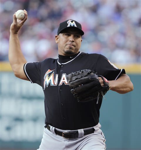 Zambrano helps pitch Marlins past Indians 3-2