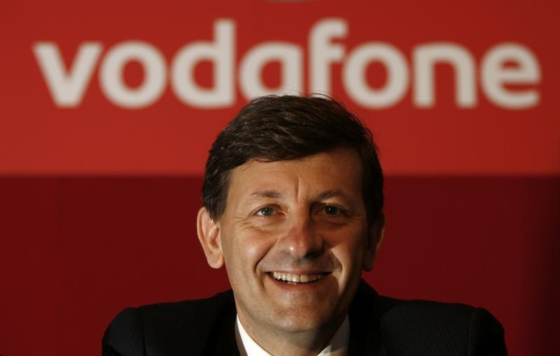 Vodafone's new Chief Executive Vittorio Colao poses for photos in London