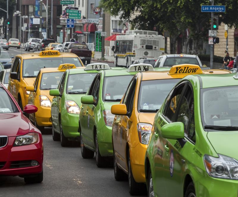 Los Angeles cabbies protest ride-sharing apps