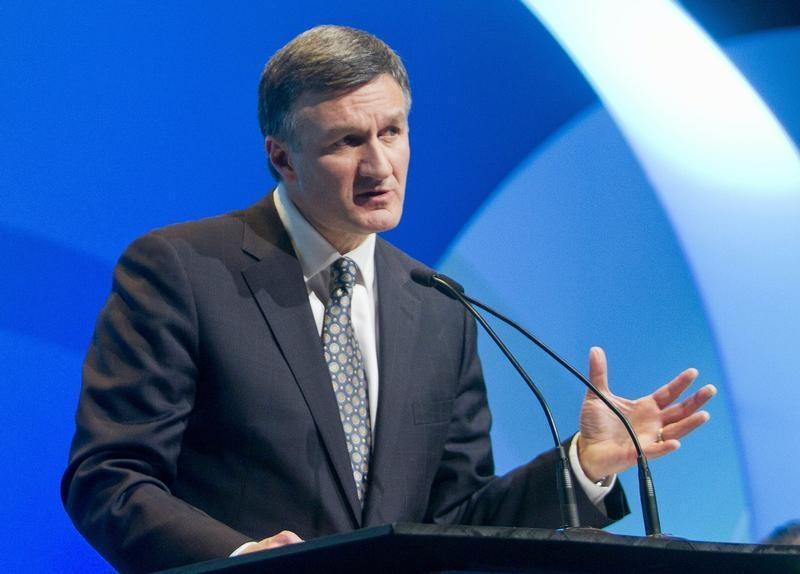 Enbridge President and CEO Al Monaco speaks during the IHS CERAWeek energy conference in Houston