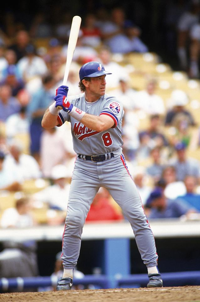 LOS ANGELES - FILE:  Gary Carter #8 of the Montreal Expos stands ready at the plate during a game against the Dodgers on July 8, 1992 at Dodger Stadium in Los Angeles, California. According to reports on May 21, 2011, Carter has four small tumors on his brain.  (Photo by Stephen Dunn/Getty Images)