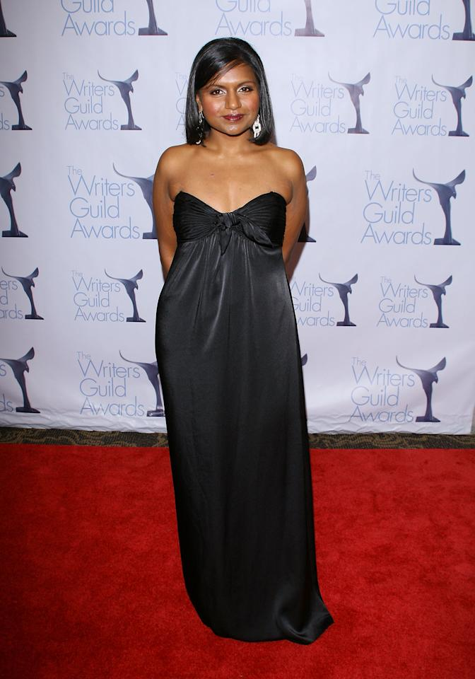 LOS ANGELES, CA - FEBRUARY 07:  Mindy Kaling arrives for the 2009 Writers Guild Awards held at the Hyatt Regency Century Plaza Hotel on February 7, 2009 in Los Angeles, California.  (Photo by Michael Tran/FilmMagic)