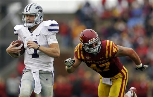 No. 6 K-State holds off Iowa State 27-21