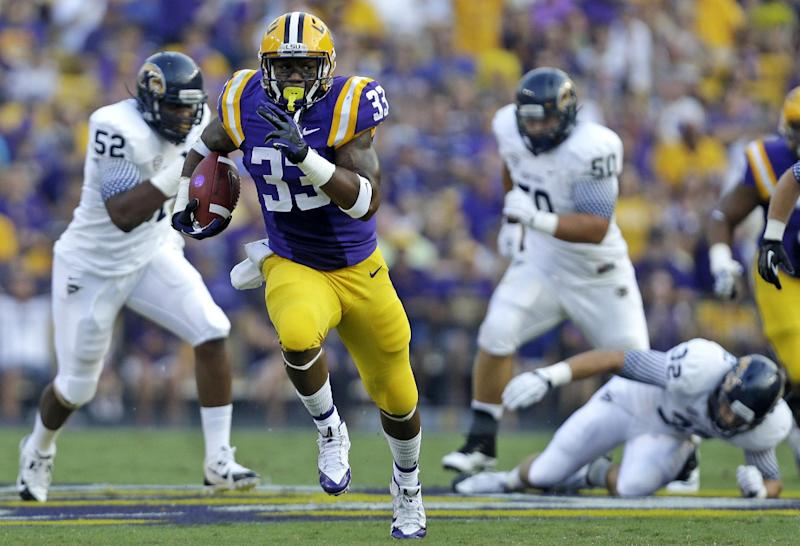 LSU's Hill reluctant to take credit for big gains