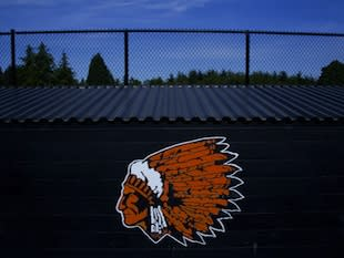 The back of a Molalla High dugout — Portland Oregonian