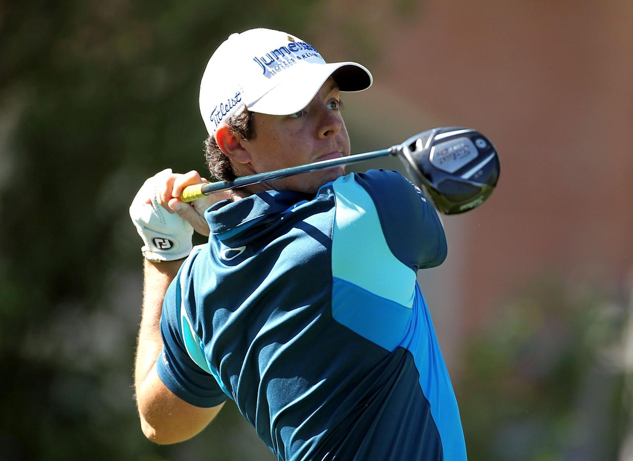 MEMPHIS, TN - JUNE 07:  Rory McIlroy of Northern Ireland hits his tee shot on the par 5 16th hole during the first round of the FedEx St. Jude Classic at TPC Southwind on June 7, 2012 in Memphis, Tennessee.  (Photo by Andy Lyons/Getty Images)