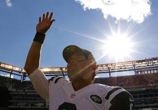 It was a sunny day for Mark Sanchez who dominated the Bills after tossing an INT on the Jets' first drive. (Reuters)