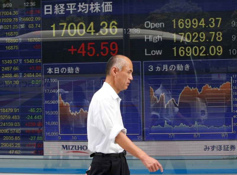 Asian stocks hold near 14-month peak on Fed relief