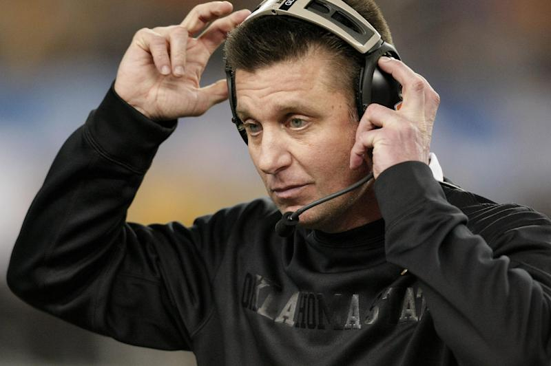 Okla St coach Gundy on question from SI: 'Sweet'