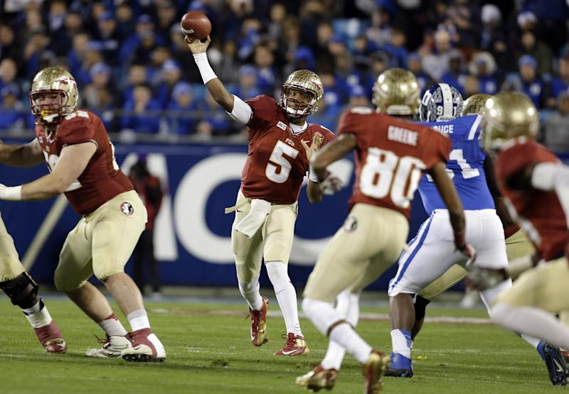 Winston leads No. 1 FSU over No. 20 Duke 45-7