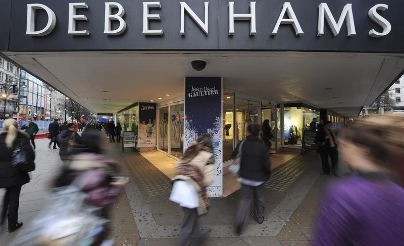 UK's Debenhams steps up spending in bid to return to growth