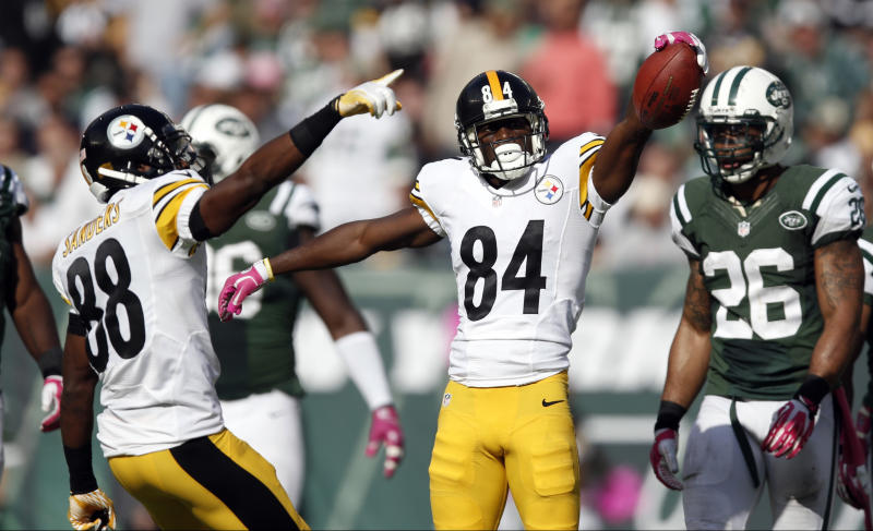 Confident WR Brown on record pace for Steelers