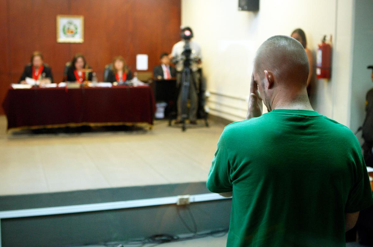 Joran van der Sloot was sentenced to 28 years in prison after pleading guilty to the 2010 murder of a 21-year-old Peruvian woman he met in Lima. He was a suspect in the disappearance of Natalee Holloway. (Karel Navarro/AP Photo)