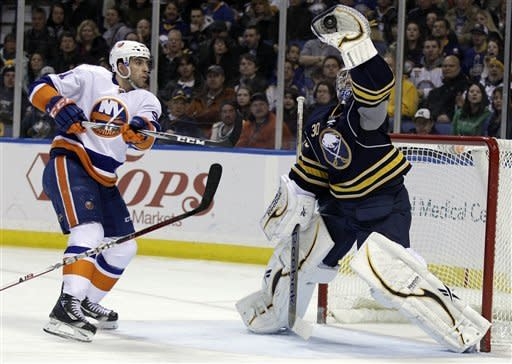 Miller stops 30 in Sabres' 2-1 win over Isles
