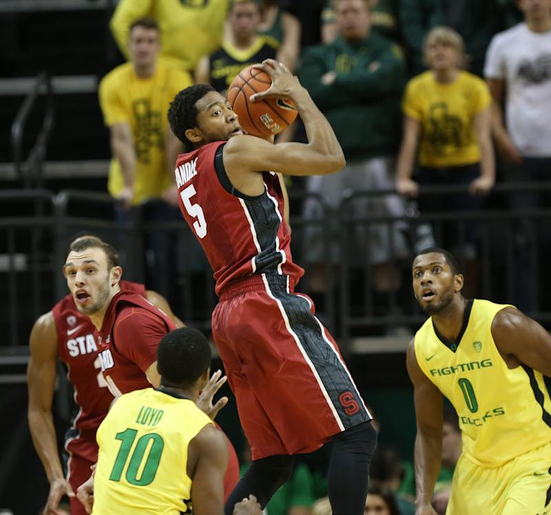 Stanford beats No. 17 Oregon 82-80