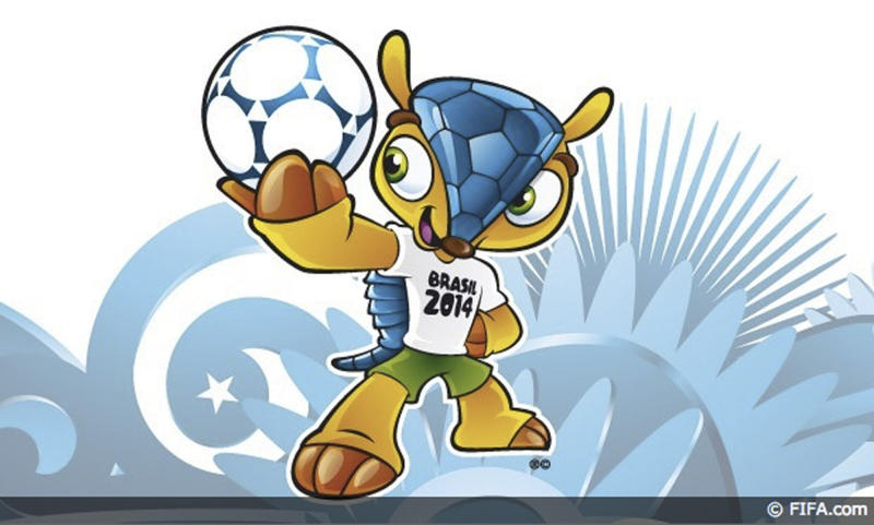 Armadillo mascot for 2014 World Cup named 'Fuleco'