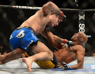 No fan of Anderson Silva [R] wants to see him fight Chris Weidman again. (Jayne Kamin-Oncea-USA TODAY Sports)