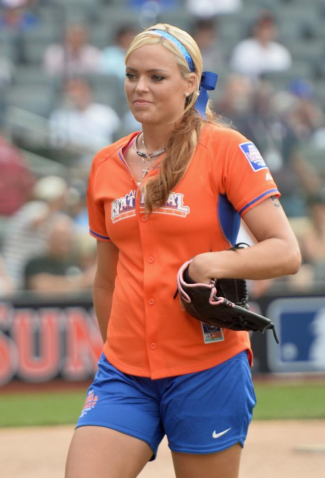 NEW YORK, NY - JULY 14: Softball player Jennie Finch attends the Taco Bell All-Star Legends & Celebrity Softball Game at Citi Field on July 14, 2013 in New York City. (Photo by Mike Coppola/Getty Images)