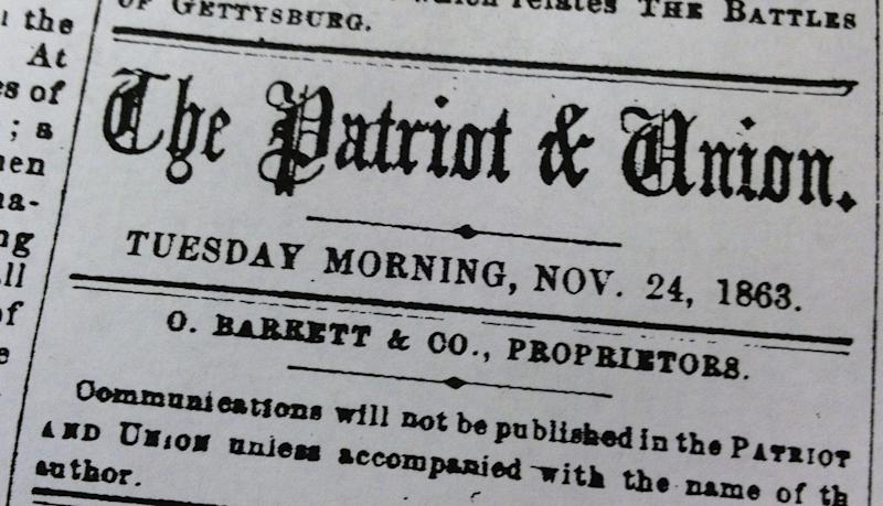Pa. paper: Sorry for panning Gettysburg Address