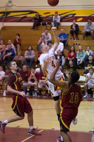 La Canada sophomore Brendan Hempstead scored 29 points hours after his father's funeral — Eric D. Danielson photo