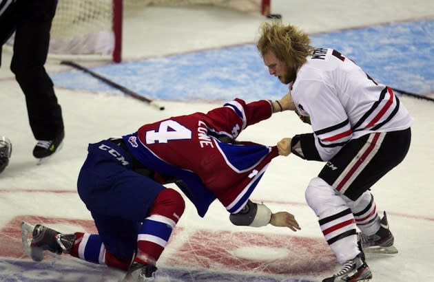 One of the two fights between Portland and Edmonton before the team's shared a flight — Portland Oregonian