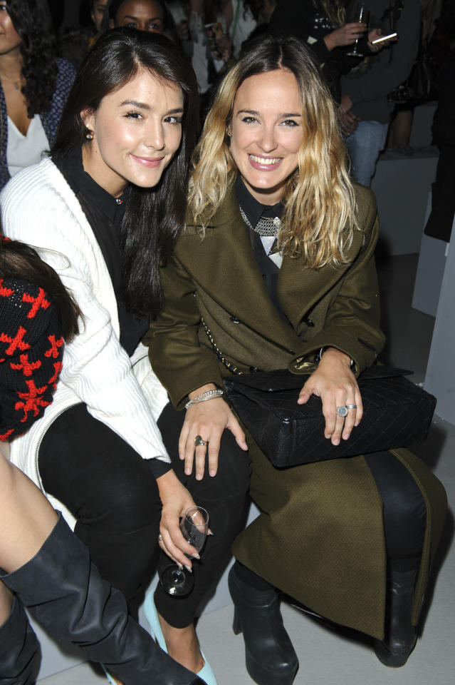 LONDON, ENGLAND - SEPTEMBER 16:  Jessie Ware and Jess Mill attends the front row for the Unique show on day 3 of London Fashion Week Spring/Summer 2013 at TopShop Venue on September 16, 2012 in London, England.  (Photo by David M. Benett/Getty Images)