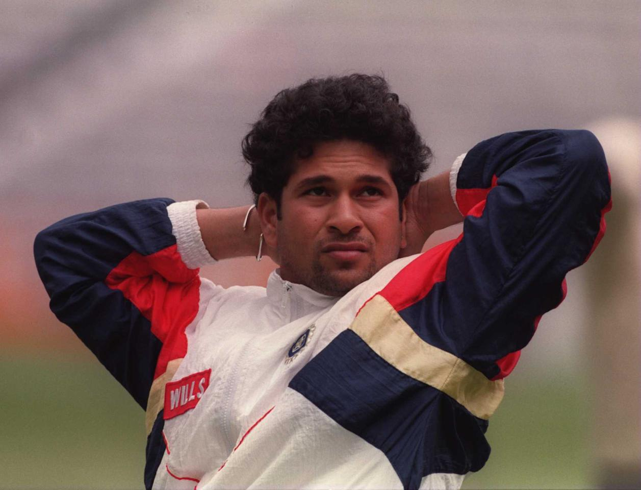 22nd May 1996:  Indian superstar batsman Sachin Tendulkar during nets today at the Fosters Oval ahead of Thursdays one day international against India. Mandatory Credit: Adrian Murrell/ALLSPORT