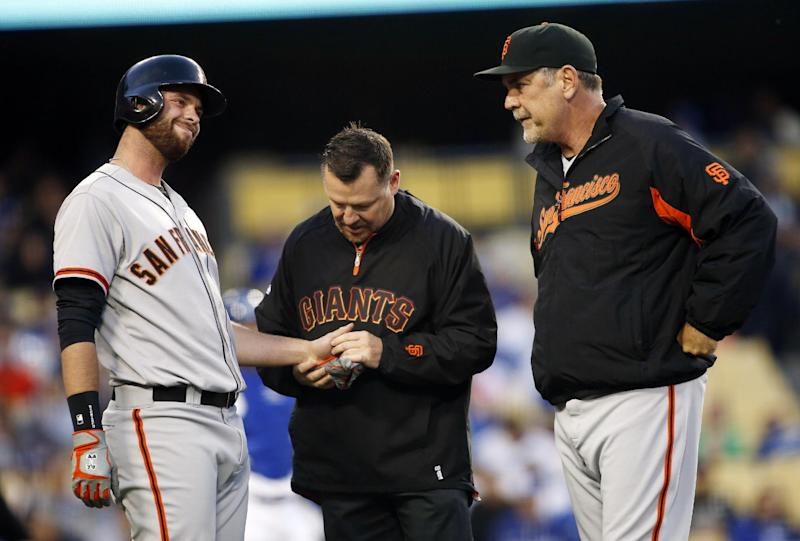 Giants put Belt on DL, activate Cain