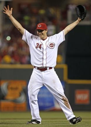 Homer Bailey is the first Red to toss a no-hitter in Cincinnati since Tom Browning in 1988. (AP)