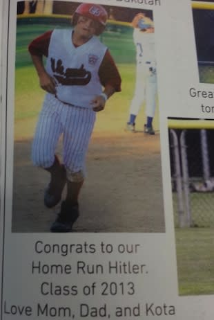 This is one very unfortunate yearbook ad — imgur