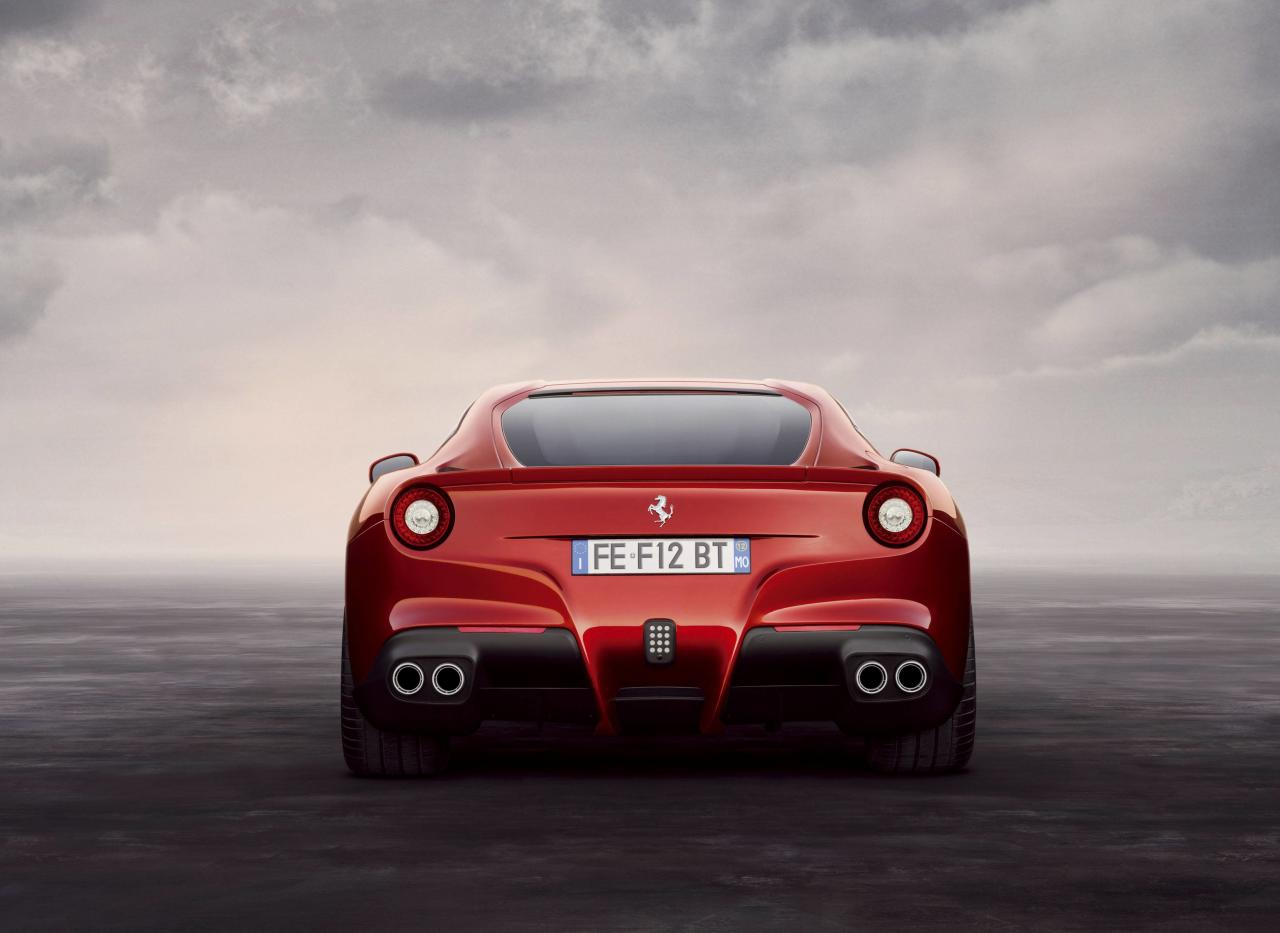 The Italian Stallion that kicks out some serious horsepower!  Designed from scratch, the F12 Berlinetta is the fastest and most powerful road going car in Ferrari�s history. Packing a new-generation 6.3-liter V-12 engine, it develops a peak output of 729 horsepower and 508 pound-feet of torque. The�car�also comes with a seven-speed F1 dual-clutch transmission, magnetorheological adjustable suspension, an electronic differential, and F1-Trac stability and traction control. The end result of all those performance specs is a 0-60 mph time of just 3.1 seconds, a top speed of 211 MPH, and a lap of Fiorano in just 1:23. That lap time, by the way, is a whole second faster than the already insane Ferrari 599 GTO�and roughly two seconds faster than the 458 Italia and Enzo.  Credit: (Mandatory): WENN.com