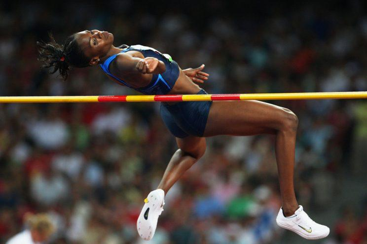 Chaunte Lowe cleared 1.99 meters in Beijing, which wasn't good enough for a medal ... until eight years later. (Getty Images)