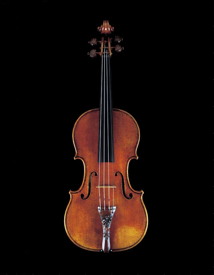 "In this photo taken in 2008 and released by Nippon Music Foundation, ""Lady Blunt,"" a 1721 Stradivarius violin, is shown in Tokyo. The Japanese music foundation has sold a renowned Stradivarius violin for US$16 million at a London auction to raise money for tsunami disaster relief. The nonprofit foundation said Tuesday, June 21, 2011, the proceeds from selling the nearly 300-year-old violin will go to relief projects in northern Japan where the deadly earthquake and tsunami hit on March 11. (AP Photo/Nippon Music Foundation, S. Yokoyama) MANDATORY CREDIT"