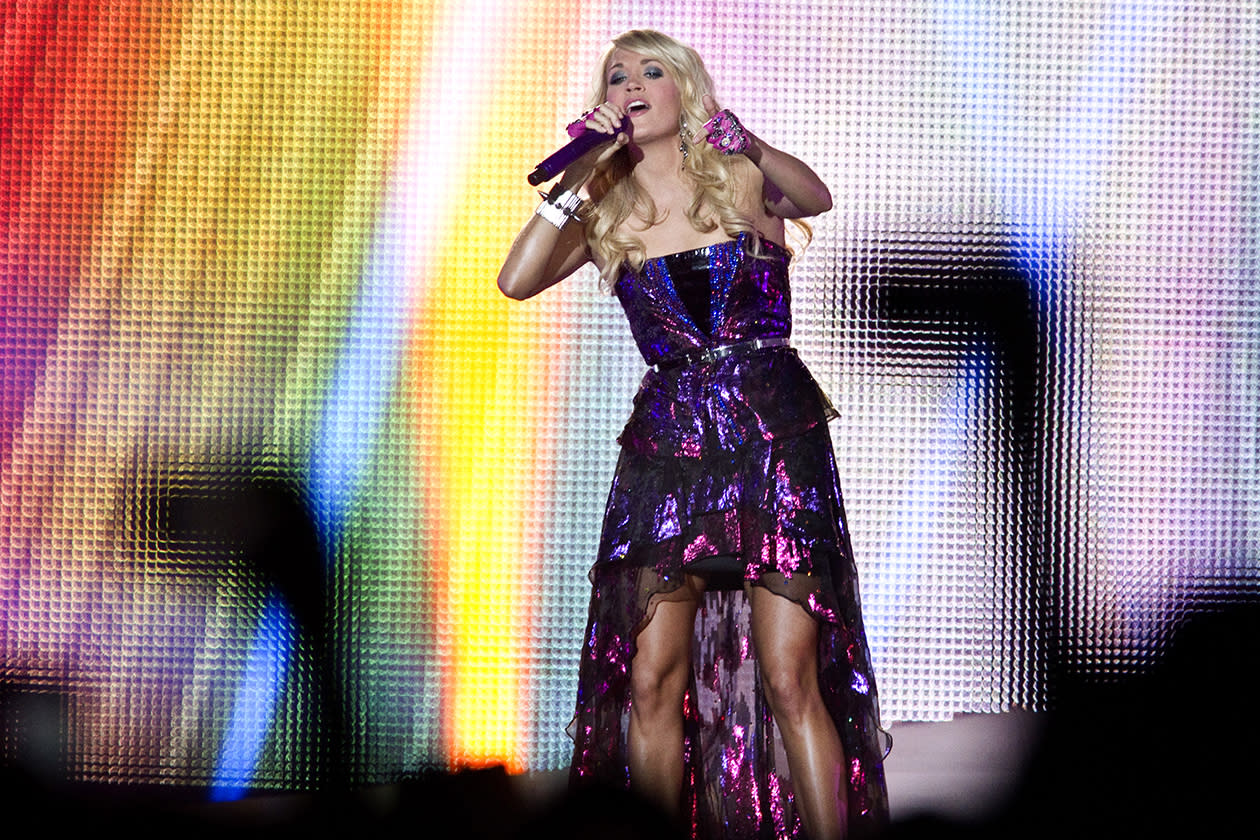 <b>16. Carrie Underwood - $11,942,956.65</b><br><br>Carrie Underwood performs at the Yakima Valley SunDome to a sold out crowd.