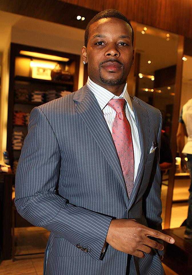 Kerry Rhodes visits the Sean John Store on April 25, 2010 in New York City. (Photo by Shareif Ziyadat/FilmMagic)