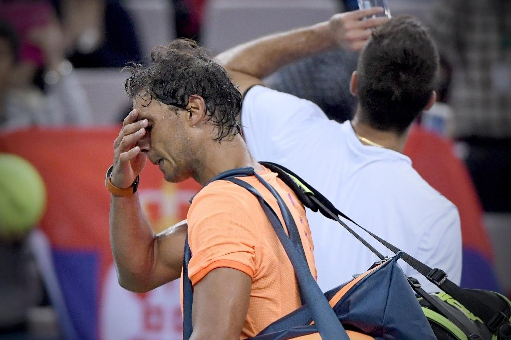 Rafael Nadal wants tennis to adopt slower balles to reduce injuries (AFP Photo/Wang Zhao)