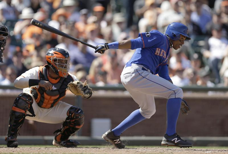 Granderson out of Mets' lineup due to sore calf