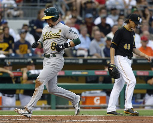 Colon, A's shut down Pirates 2-1