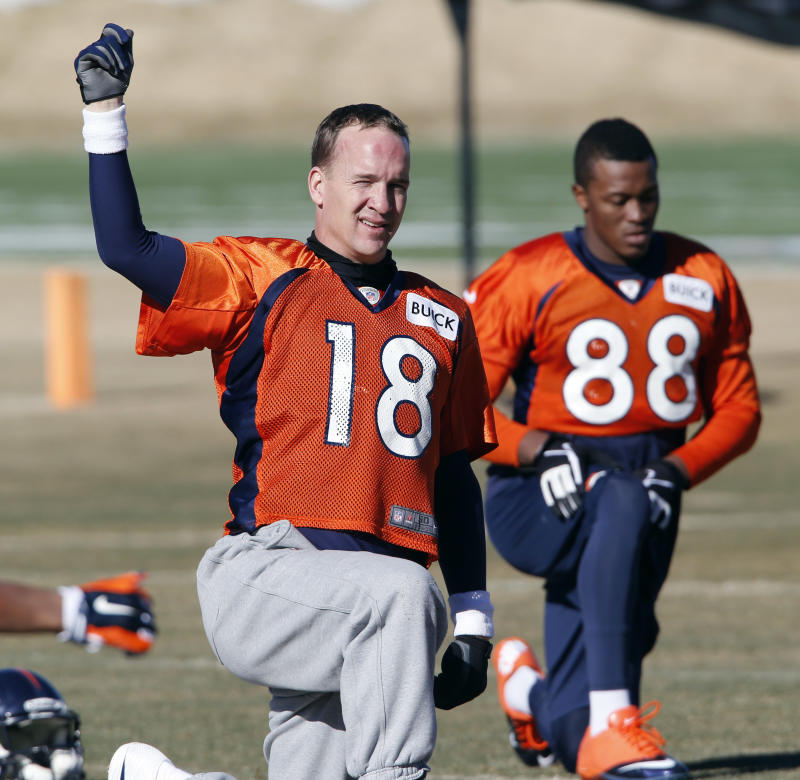 If the glove fits, Peyton is wearing it