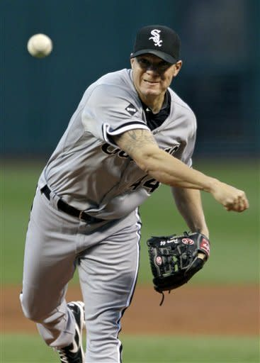 Peavy coasts as White Sox pound Indians 8-1
