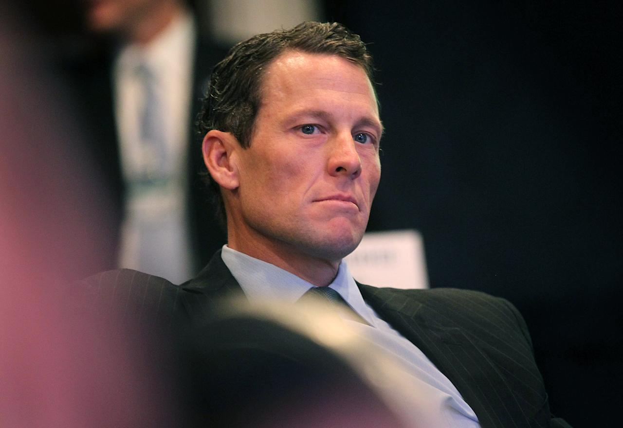 NEW YORK - FILE:  Lance Armstrong, cyclist and founder and chairman of LIVESTRONG, looks on during the annual Clinton Global Initiative (CGI) September 22, 2010 in New York City.  It was reported on June 13, 2012 that the U.S. Anti Doping Agency has filed official charges against Lance Armstrong. (Photo by Mario Tama/Getty Images)